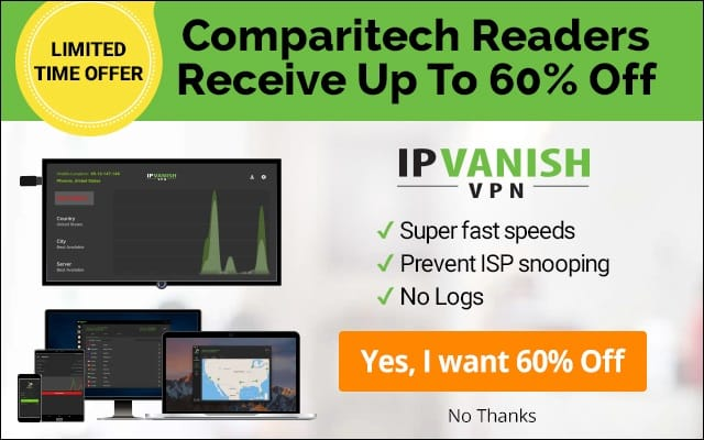 IPVanish - 60% Off for Comparitech Readers