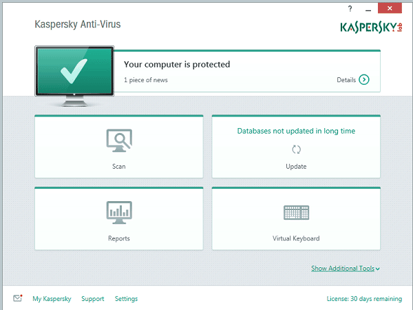 Kaspersky-AV-interface