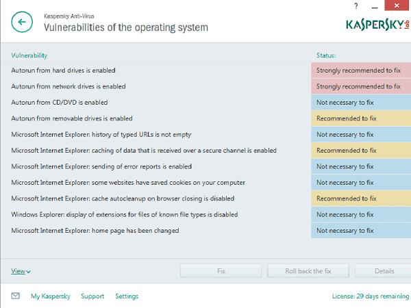 Kaspersky-Vulnerability-Sca