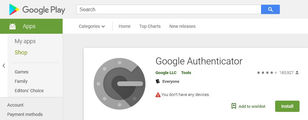Google Authenticator.