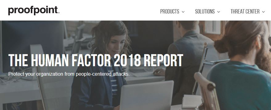 Proofpoint report header.
