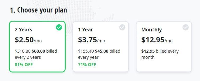 VyprVPN pricing.
