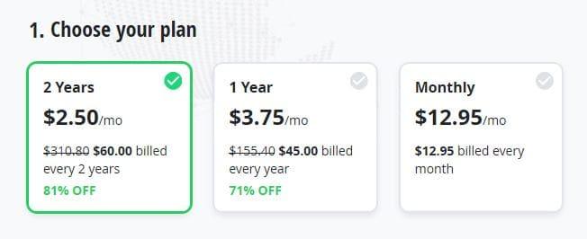 VyprVPN pricing.