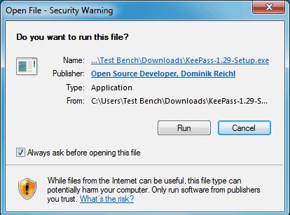 Run-KeePass-installer