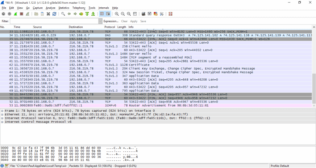 wireshark 3