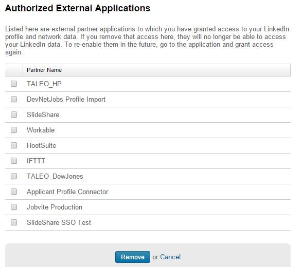 app permissions linkedin