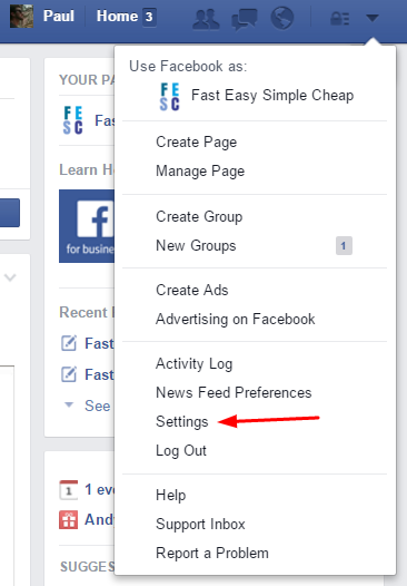 How to remove app from facebook page