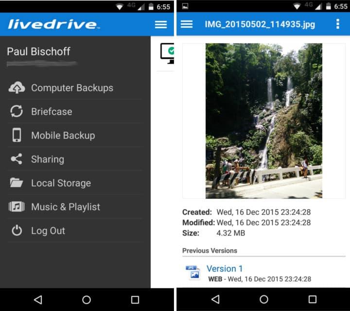 livedrive mobile app