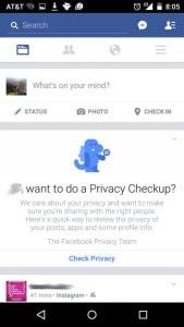 privacy checkup