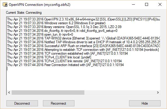 obfsproxy openvpn connect