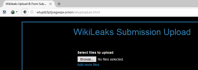 tor browser wikileaks url bar