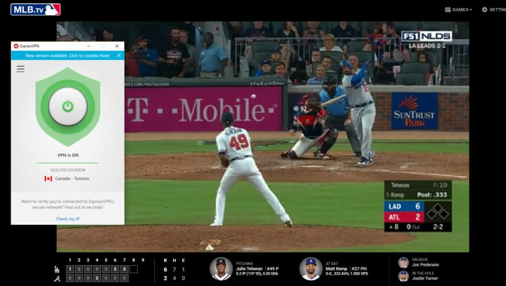ExpressVPN works with MLB.tv