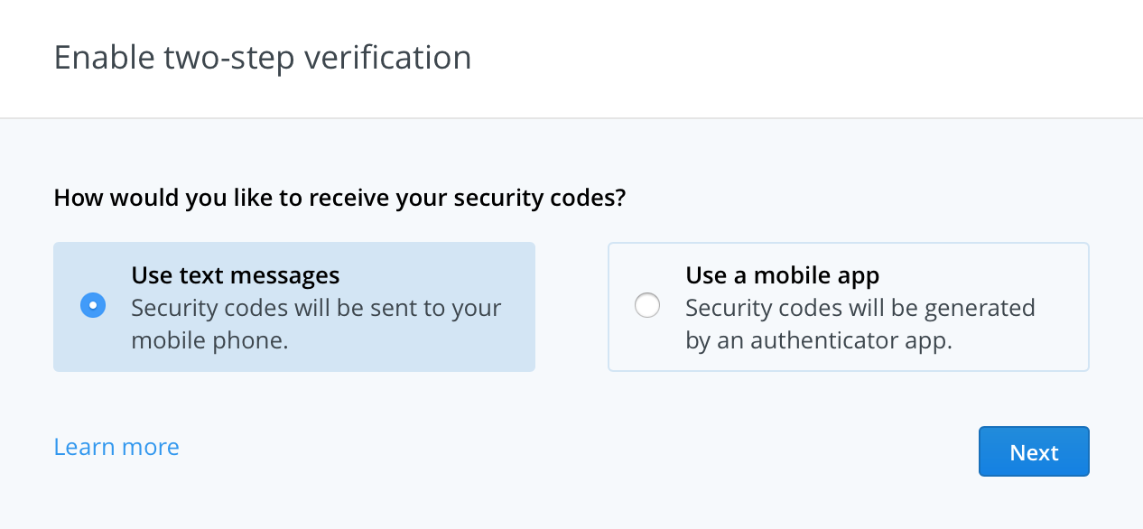 Dropbox authenticator