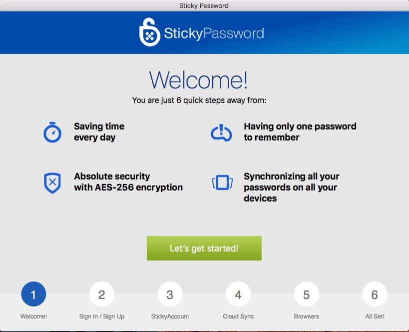 Install Sticky Password