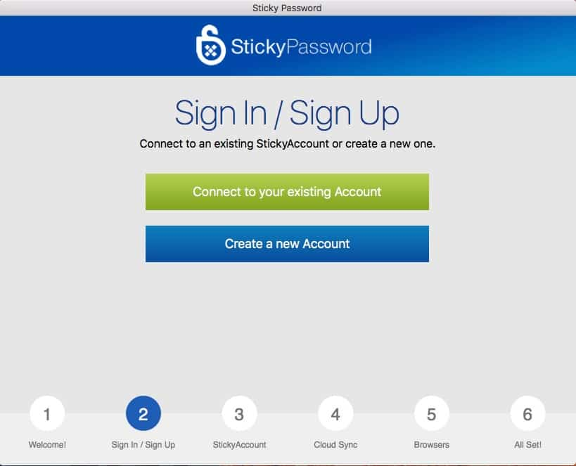 Sticky Password account