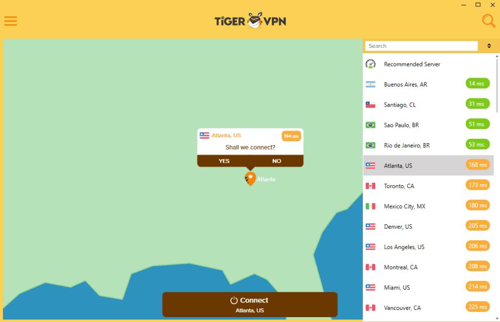 tigervpn servers