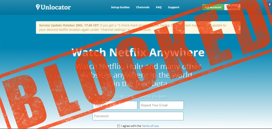 Unlocator Netflix Proxy Error  Not working with Netflix, Try this