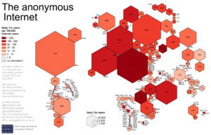 attr -- https://en.wikipedia.org/wiki/Tor_%28anonymity_network%29#/media/File:Geographies_of_Tor.png by Stefano.desabbata Licensed by CC BY-SA 4.0