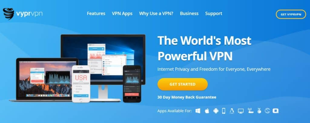 VyprVPN iPlayer