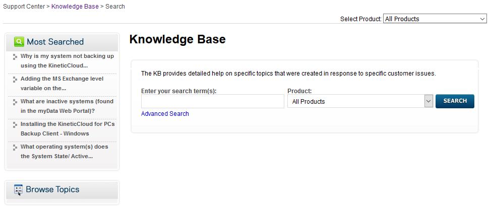 Backup Everything Knowledge Base