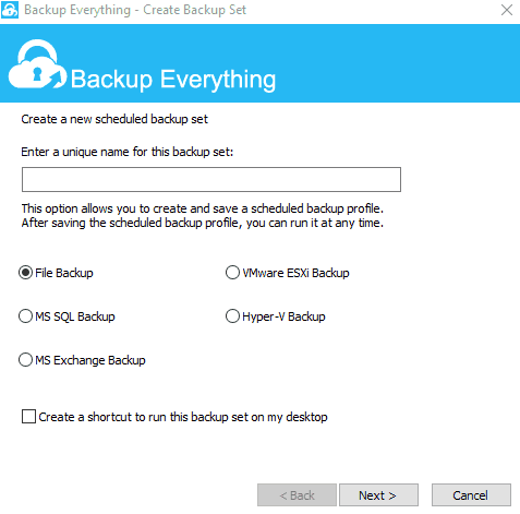 Backup Everything Server Client