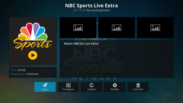 nbc sports extra nfl games on kodi
