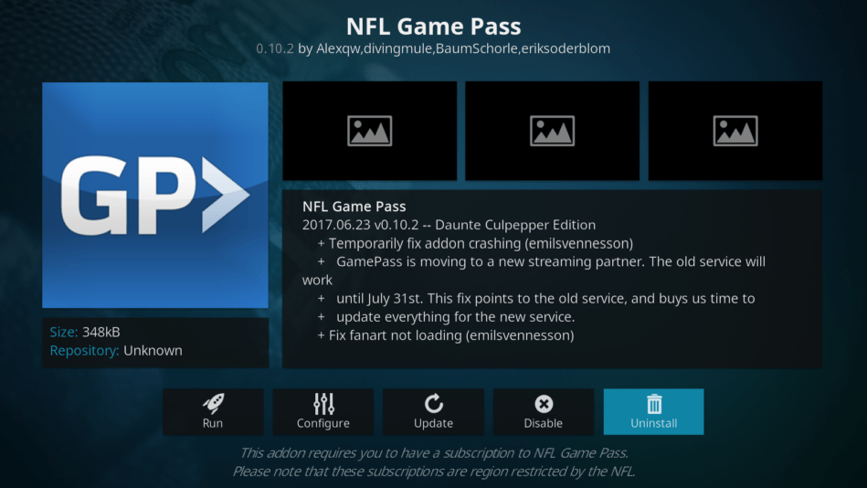 nfl game pass nfl kodi addons