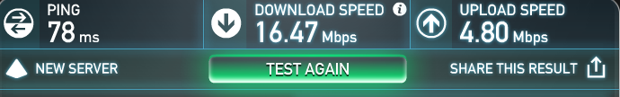 no vpn speed