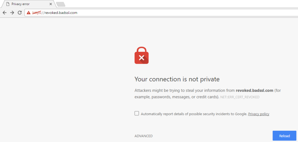 Bad SSL