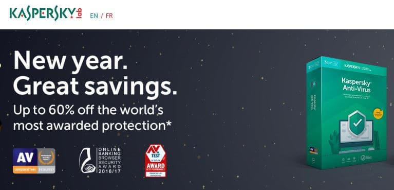 Kaspersky Mac antivirus homepage.