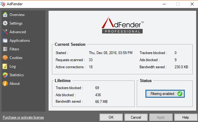Adfender popup blockers