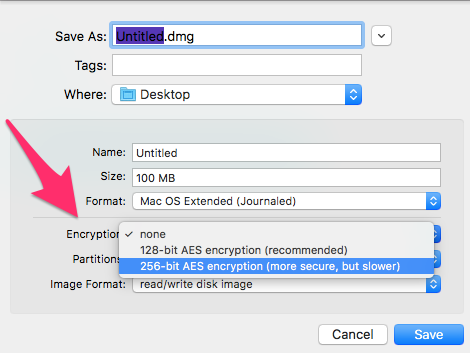 DU select encryption