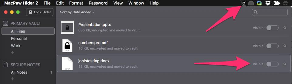 MacPaw Hider2 UI