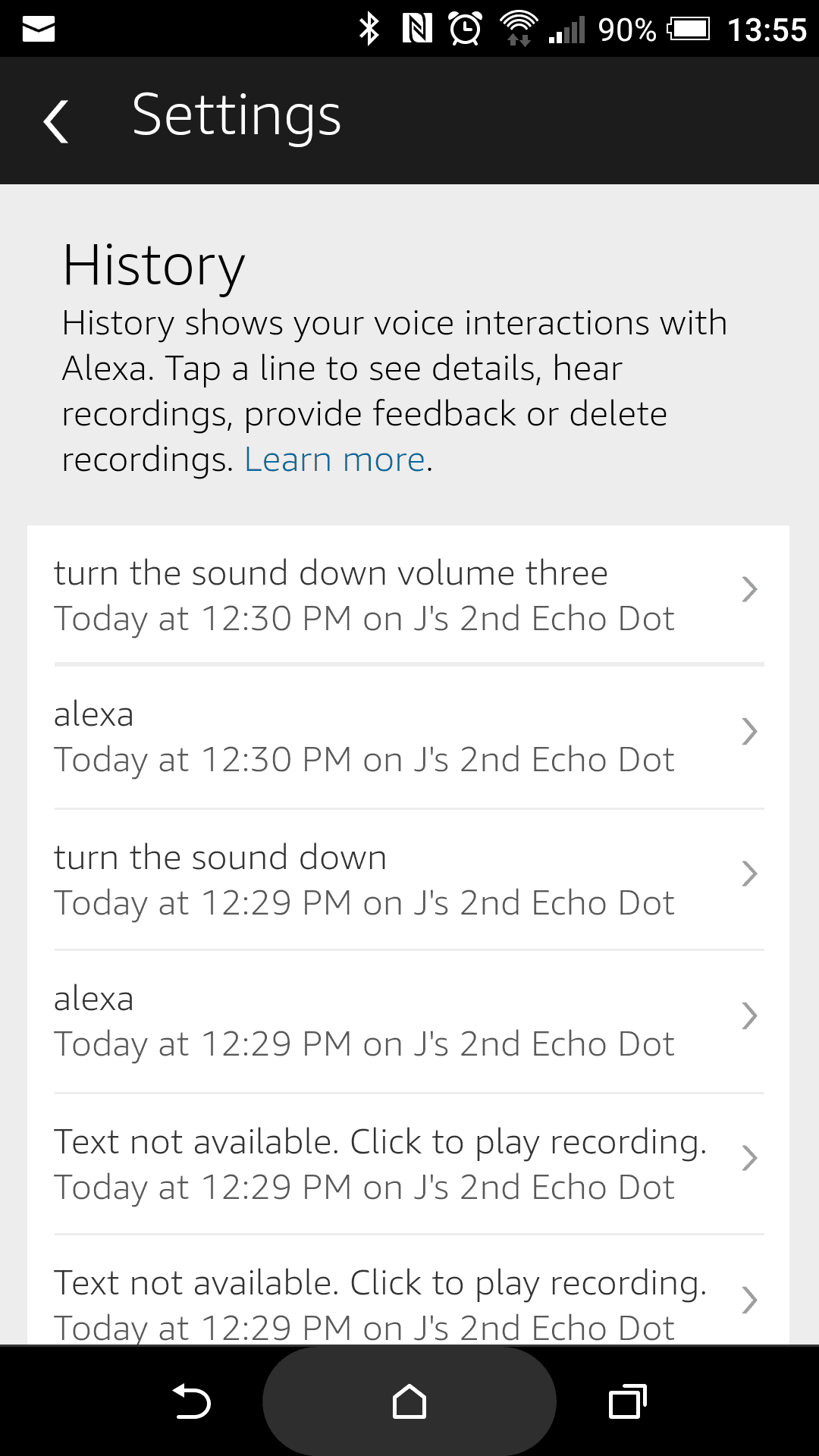 Amazon Echo History Delete Search