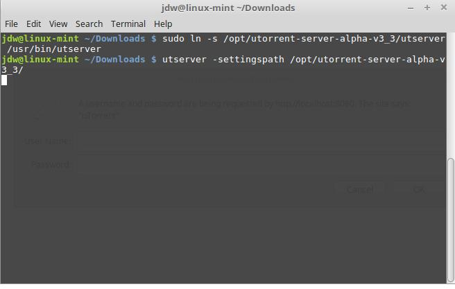 Start uTorrent for Linux Mint