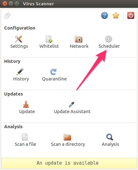 ClamTK scheduler icon