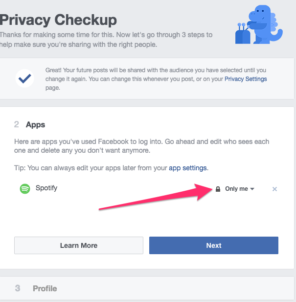 Facebook apps privacy