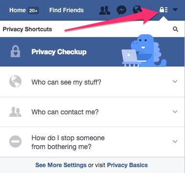 Facebook lock icon