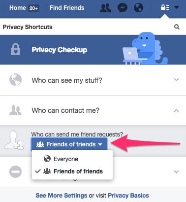 Facebook who can contact me