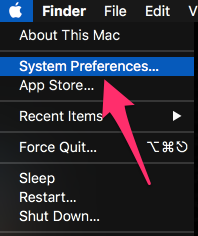 Macos apple menu
