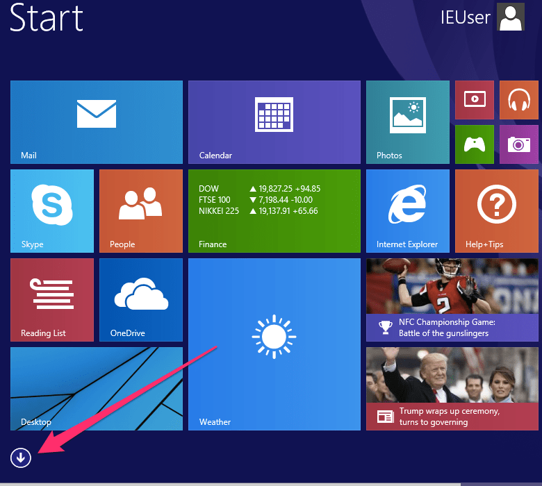 Windows start button