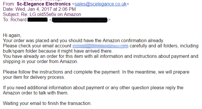 how to email amazon about an order