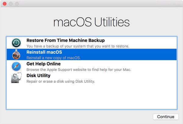 macOS restore