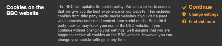 BBC cookie compliance