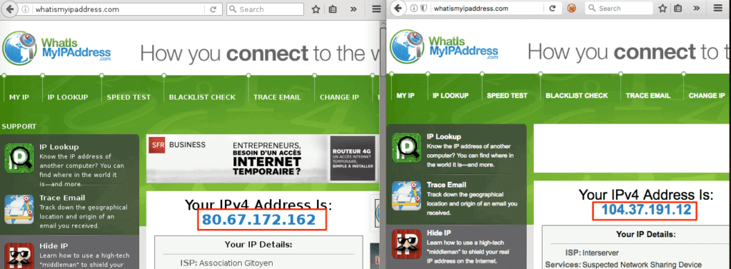 ip address whonix and host