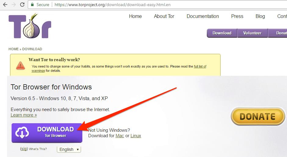 tor browser bundle настройка