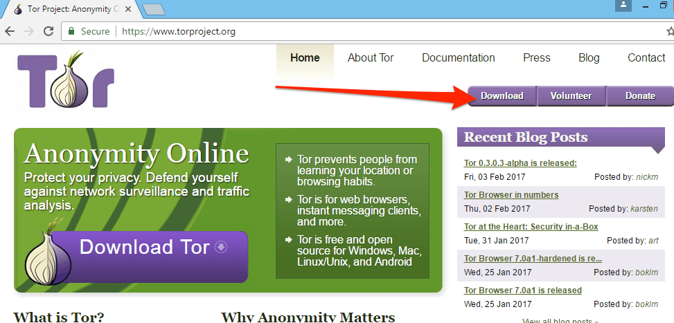 tor website download button