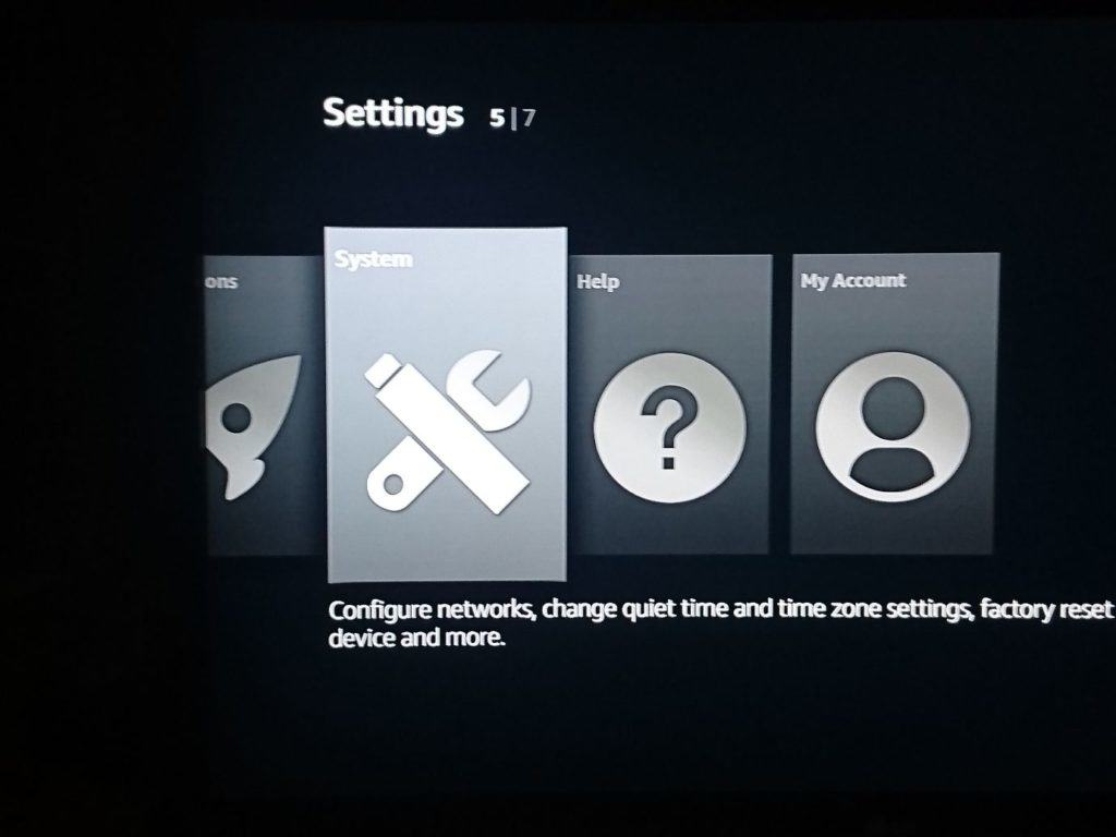 Fire Stick settings