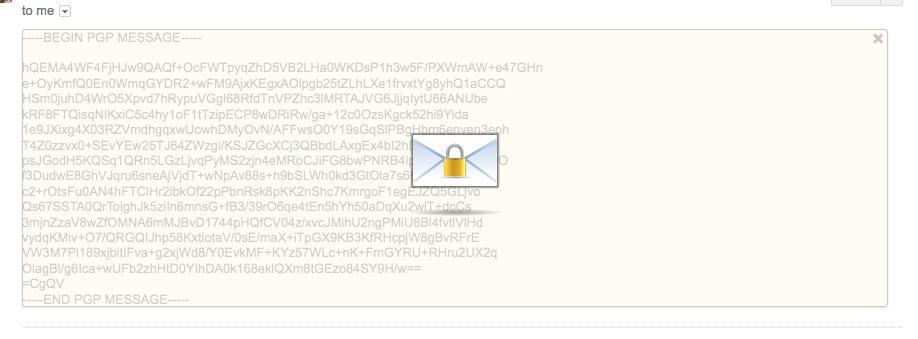 Mailvelope overlay