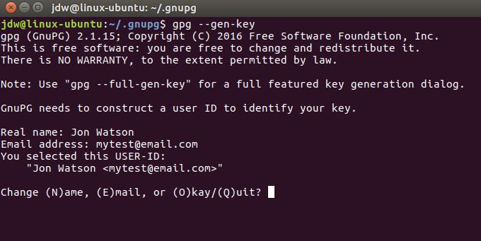 Ubuntu GPG first run